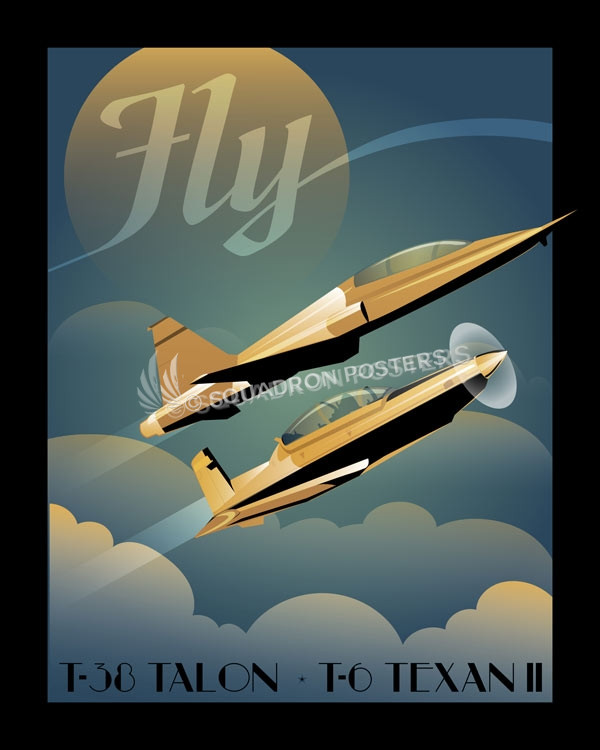 Fly T 6 And T 38 Squadron Posters