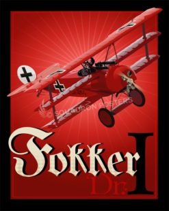 Red Baron, Fokker Dr.I Fokker_Dr._I_SP00754-featured-aircraft-lithograph-vintage-airplane-poster-art