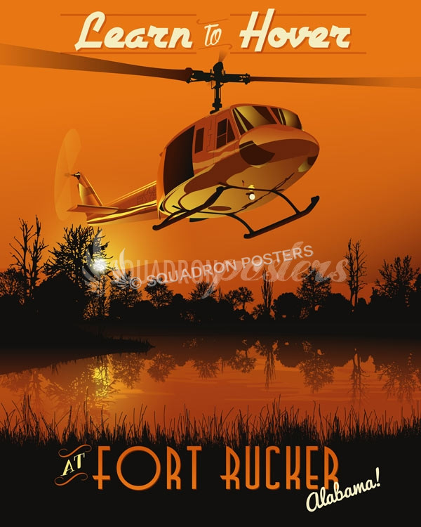 Fort Rucker UH-1 poster art