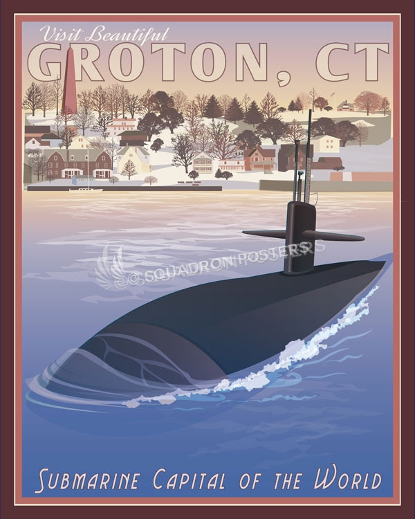 Groton_CT_Sub_SP00922-featured-sub-lithograph-vintage-naval-poster-art