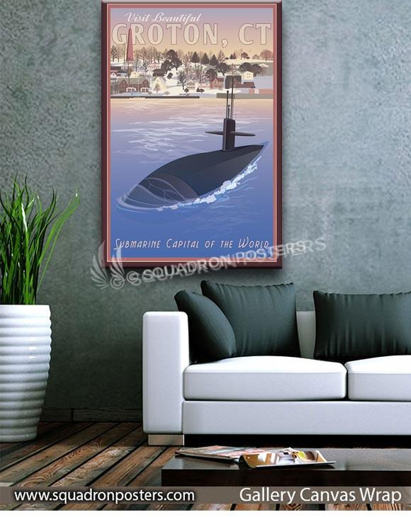 Groton_CT_Sub_SP00922-squadron-posters-vintage-canvas-wrap-naval-prints