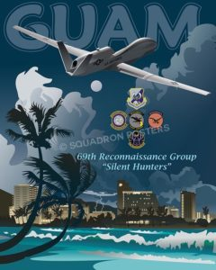 Anderson AFB Guam 69th RG RQ-4 Global Hawk Guam-RQ-4-69thRG-SP00484-vintage-military-aviation-travel-poster-art-print-gift