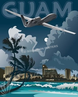 Guam-RQ-4-V2-SP00485-vintage-military-aviation-travel-poster-art-print-gift