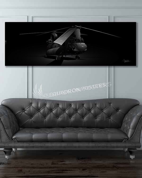 H-47_Jet_Black_60x20_SP01061JBmilitary-air-force-aviation-artwork-poster-jet-black-litho