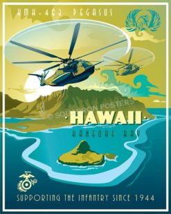 Hawaii CH-53E HSM-463 SP00512 military-aviation-poster-print-gift