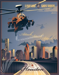 Houston AH-64 1-158th ARB SP00655 feature-vintage-style-military-aviation-print