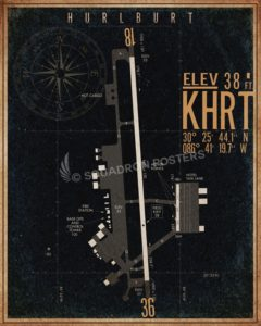 Hurlburt_Field_KHRT_airfield_map-SP00894-featured-aircraft-lithograph-vintage-airplane-poster-art