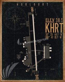 Hurlburt_Field_KHRT_airfield_map-SP00894-featured-aircraft-lithograph-vintage-airplane-poster-art