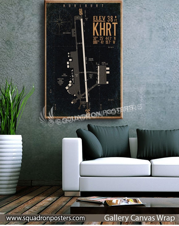 Hurlburt_Field_KHRT_airfield_map-SP00894-squadron-posters-vintage-canvas-wrap-aviation-prints