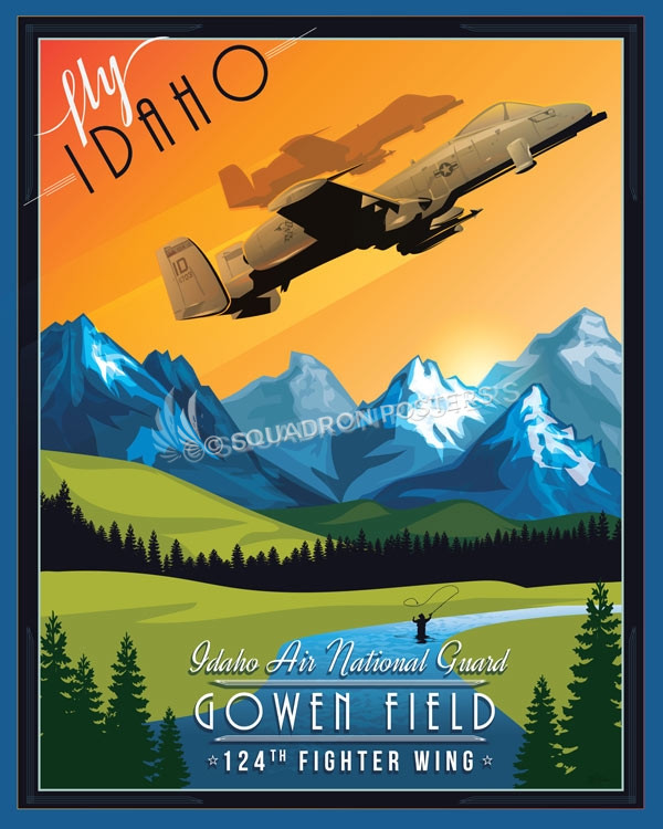 Idaho_A-10_124th_FW_SP00935-featured-aircraft-lithograph-vintage-airplane-poster-art
