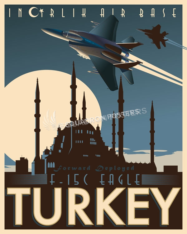Incirlik Air Base F 15c Squadron Posters