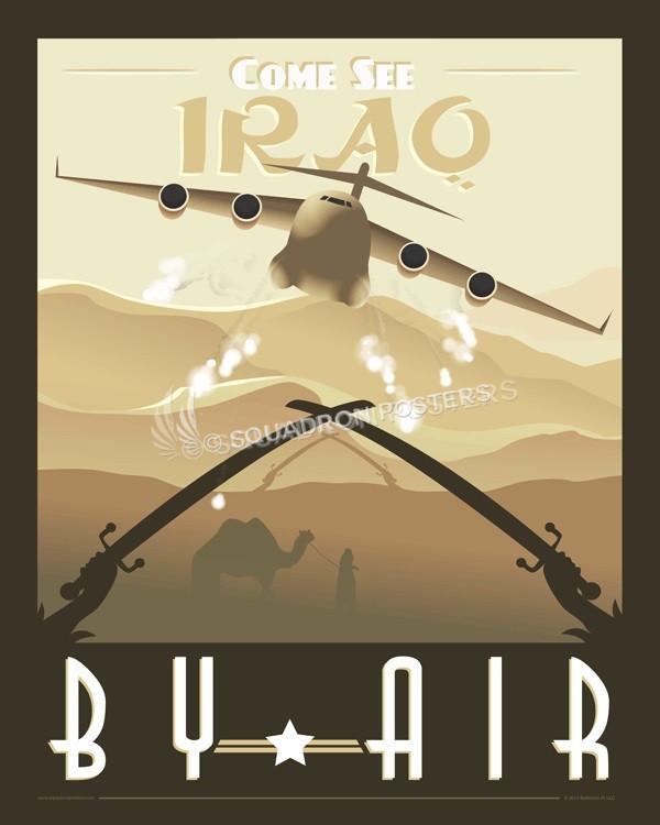 Iraq-C-17-globemaster-heavy-airlift-vinatge-poster-art