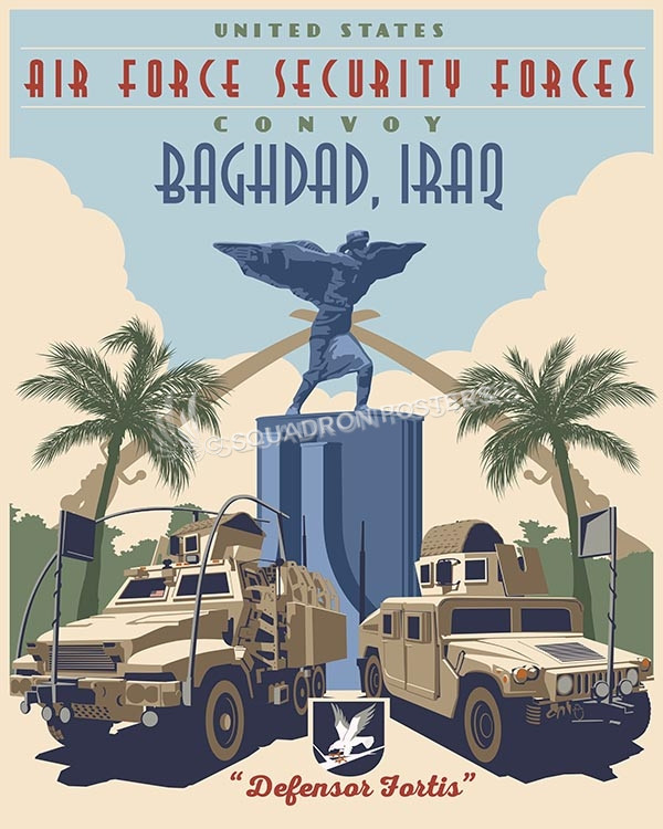 IExpeditionary Security Forces raq Convoy SF 16x20 SP00505-vintage-military-aviation-travel-poster-art-print-gift