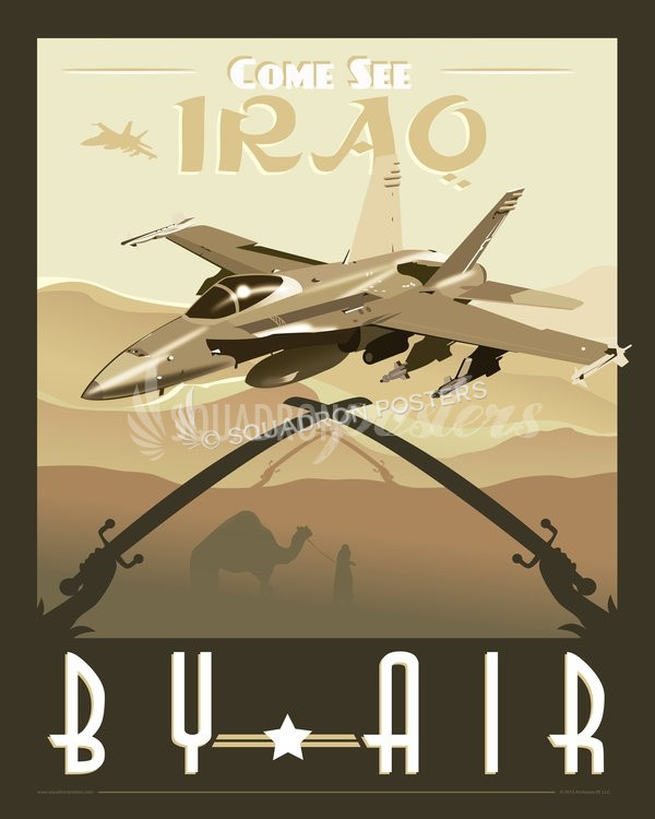 Come See Iraq by Air -F-18 iraq-f-18-military-aviation-poster-art-print-gift