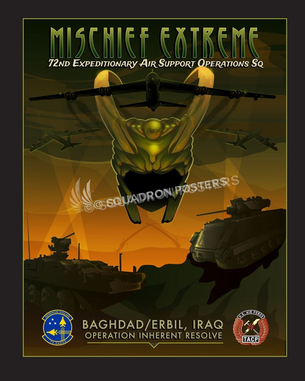 72d Expeditionary Air Support Operations Squadron Iraq_72_EASOS_SP00974-featured-aircraft-lithograph-vintage-airplane-poste-art