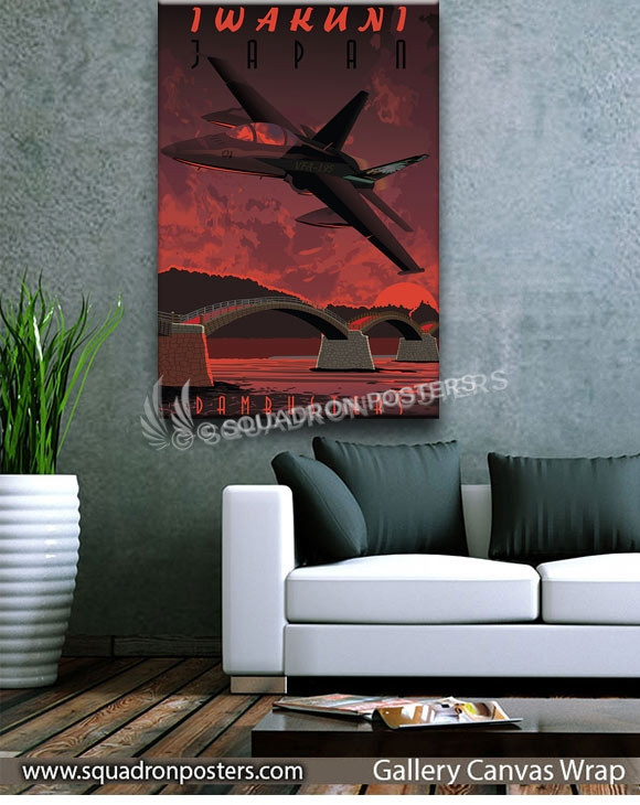 Iwakuni_FA18D_VFA-195_SP01322-squadron-posters-vintage-canvas-wrap-aviation-prints