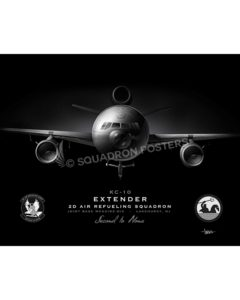 KC-10 2 ARS Jet Black Lithograph JB McGuire-Dix 2D ARS KC-10 SP01305-FEAT-jet-black-aircraft-lithograph-art