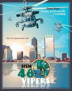 Jacksonville MH-60R HSM-48 SP00524-vintage-military-aviation-travel-poster-art-print-gift