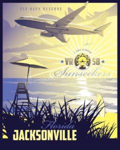 Jacksonville C-40A VR-58 SP00715 feature-vintage-style-print