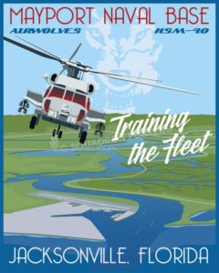 NAS Jacksonville MH-60R HSM-40 SP00646 feature-military-aviation-vintage-style-print-gift