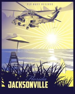 NAS Jacksonville MH-60R Jacksonville_MH-60R_generic_SP01342-featured-aircraft-lithograph-vintage-airplane-poster-art