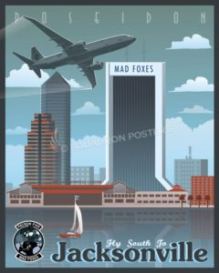 NAS Jacksonville VP-5 P-8 Poseidon Jacksonville_P-8_VP-5_SP01296-featured-aircraft-lithograph-vintage-airplane-poster-art