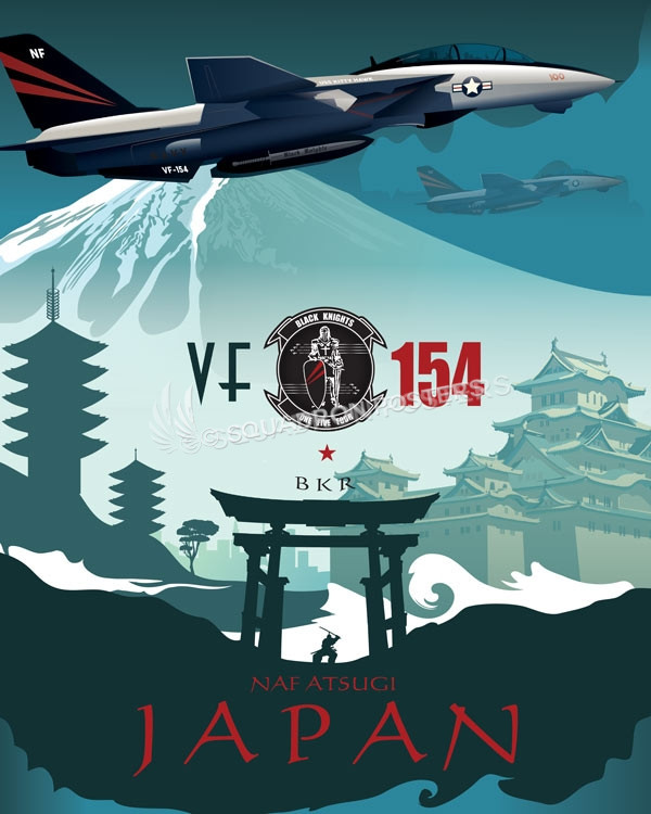 Atsugi Japan Vf 154 F 14 Tomcat Squadron Posters