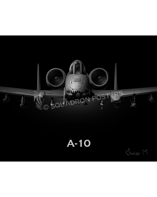 Jet Black A-10 SP00871-FEAT-jet-black-aircraft-lithograph