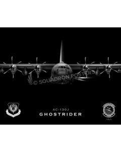AC-130J Jet Black AC-130J SP01456-FEAT-jet-black-aircraft-lithograph-art