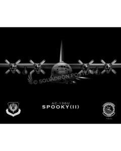 Jet Black AC-130U 1 SOAMXS SP01095-rolled-poster-jet-black-aircraft-lithograph