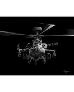 AH-64 Apache Jet Black Lithograph Jet Black AH-64 Apache 20x16 SP01272MFEAT-jet-black-aircraft-lithograph