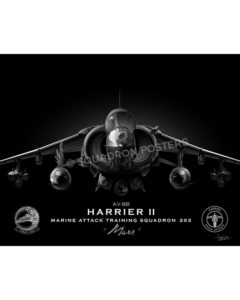 AV-8B VMAT-203 Jet Black Lithograph Jet Black AV-8B mod SP01431-FEAT-jet-black-aircraft-lithograph-art (1)