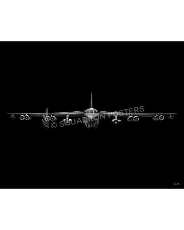 B-52 Jet Black Lithograph Jet Black B-52 AGM-86B v2 SP01445-FEAT-jet-black-aircraft-lithograph-art