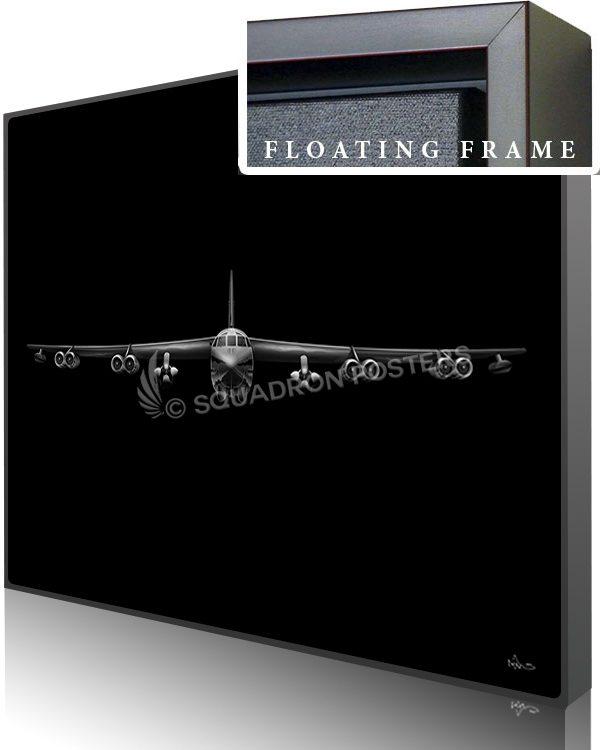 Jet Black B-52 AGM-86B v2 SP01445-featured-canvas-framed-aircraft-lithograph-art