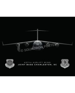 Jet Black C-17 437th Charleston-SP01022-FEAT-jet-black-aircraft-lithograph
