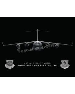 Jet Black C-17 437th Charleston-SP01022-FEAT-jet-black-aircraft-lithograph