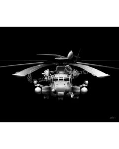 CH-53E Jet Black Lithograph Jet Black CH-53E Super Stallion SP01286-FEAT-jet-black-aircraft-lithograph-art