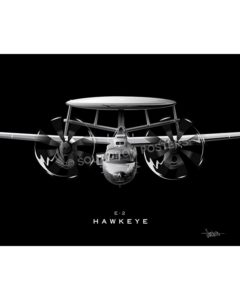 E-2 Hawkeye Jet Black Lithograph poster