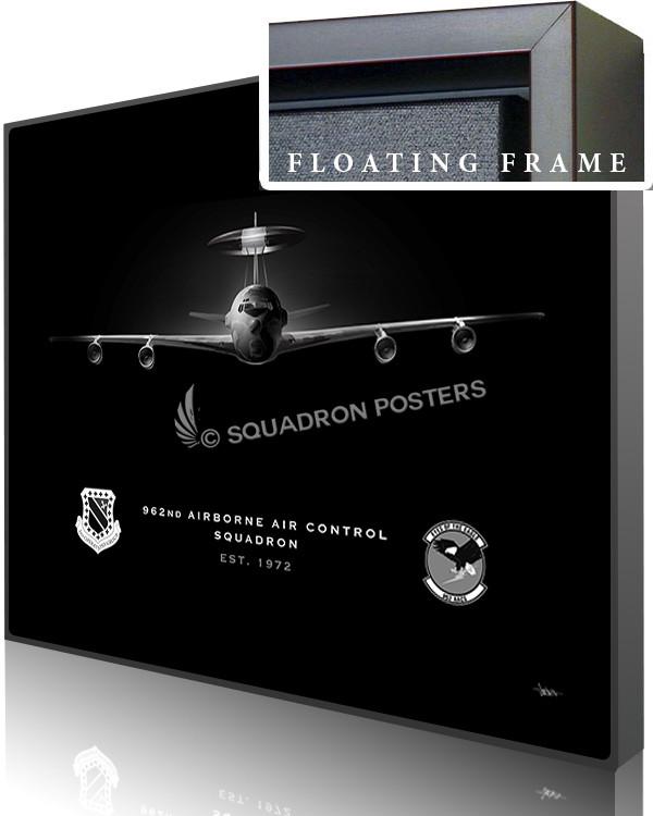 962nd AACS E-3 Jet Black Lithograph