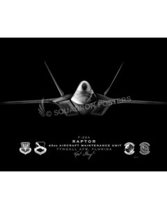 Jet Black F-22 Tyndall AFB 43d AMXS ModifySB SP01568-FEAT-jet-black-aircraft-lithograph-art