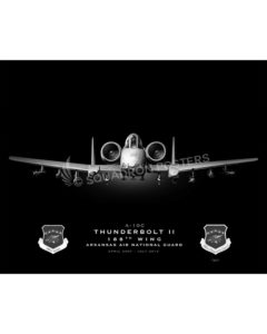 A-10 188th Wing Jet Black Lithograph Jet Black Ft Smith AR A-10 188th Wing SP01383-FEAT-jet-black-aircraft-lithograph