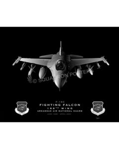 F-16 188th Wing Jet Black Lithograph Jet Black Ft Smith AR F-16C 188th Wing SP01387-FEAT-jet-black-aircraft-lithograph
