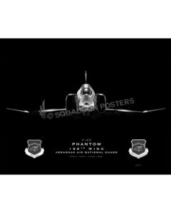 F-4 188th Wing Jet Black Lithograph Jet Black Ft Smith AR F-4 188th Wing SP01385-FEAT-jet-black-aircraft-lithograph