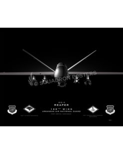 MQ-9 188th Wing Jet Black Lithograph Jet Black Ft Smith AR MQ-9 188th Wing SP01389-FEAT-jet-black-aircraft-lithograph