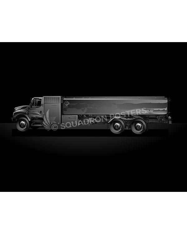 Fuel Truck Jet Black Lithograph Jet Black Fuel Truck SP01458-FEAT-jet-black-aircraft-lithograph-art