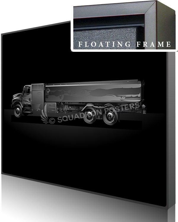 Jet Black Fuel Truck SP01458-featured-canvas-framed-aircraft-lithograph-art