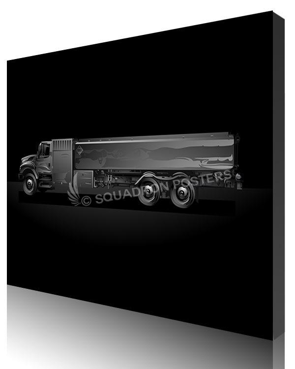 Jet Black Fuel Truck SP01458-featured-canvas-lithograph-art
