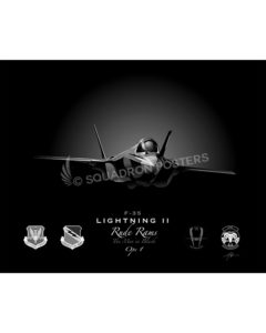 Jet Black Hill AFB F-35 34 FS SP01391-FEAT-jet-black-aircraft-lithograph-art