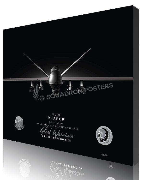 Jet Black Holloman AFB MQ-9 29th ATKS SP01462-featured-canvas-lithograph