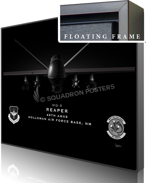 Jet Black Holloman AFB MQ-9 49th AMXS 20x16 FINAL ModifySB-SP01663M-featured-canvas-framed-aircraft-lithograph